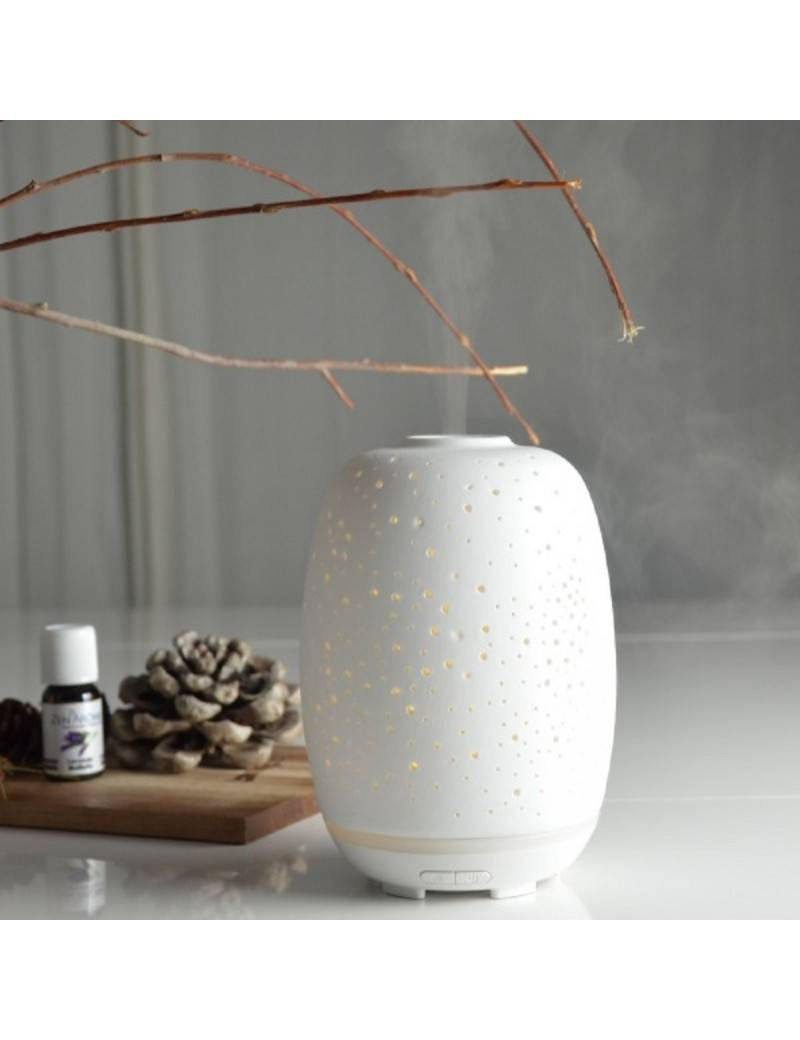 Zen'Arôme Diffuseur d'huiles essentielles ultrasonique en céramique Stella