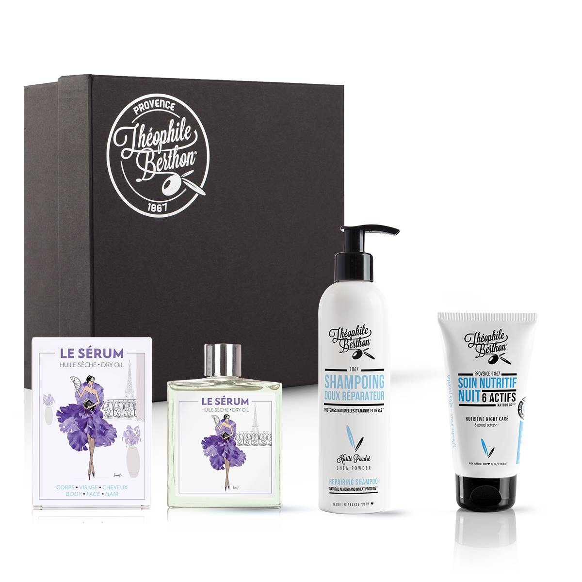 Théophile Berthon Coffret shampoing doux soin visage et huile multifonctions