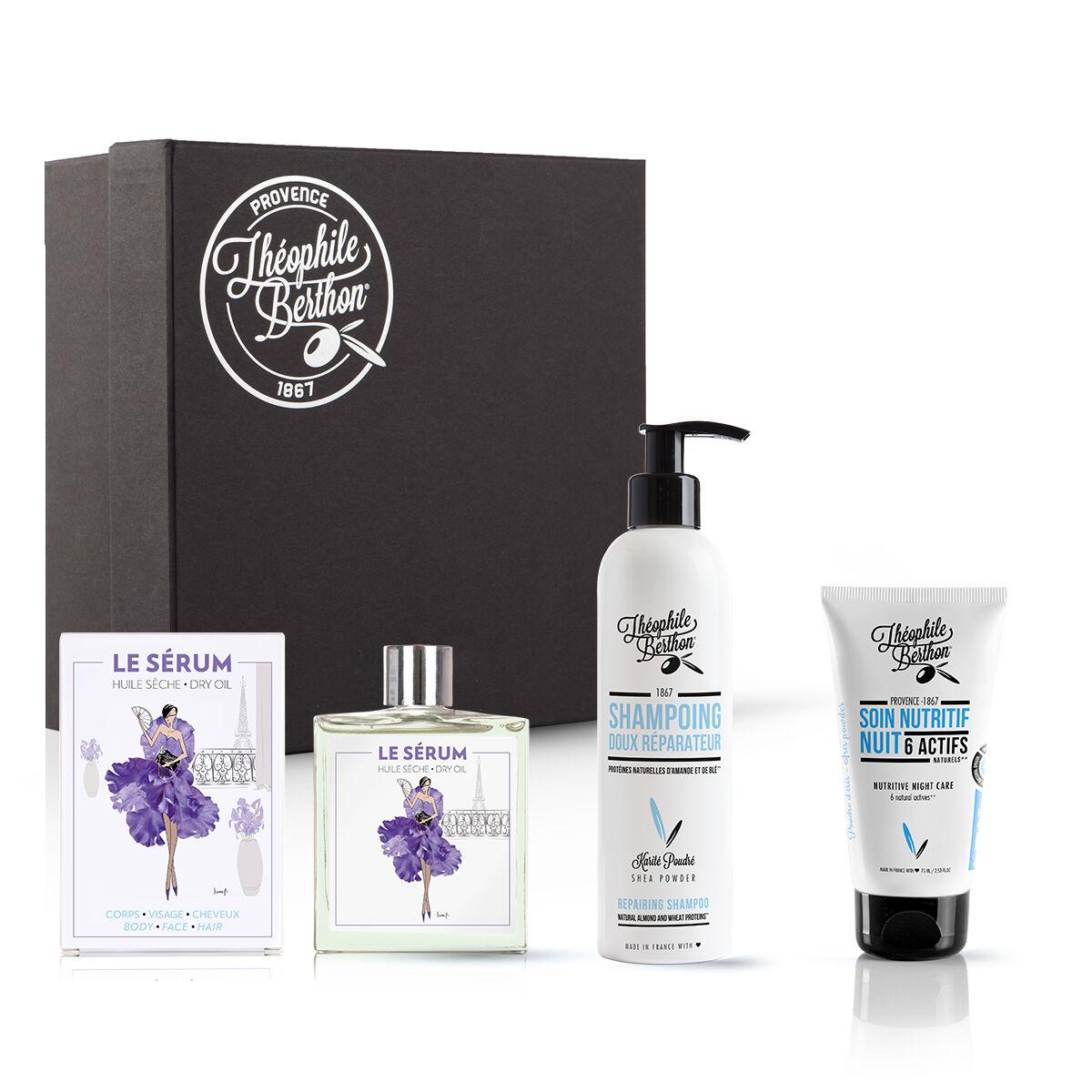 Théophile Berthon Coffret shampoing doux, soin visage et huile multifonctions