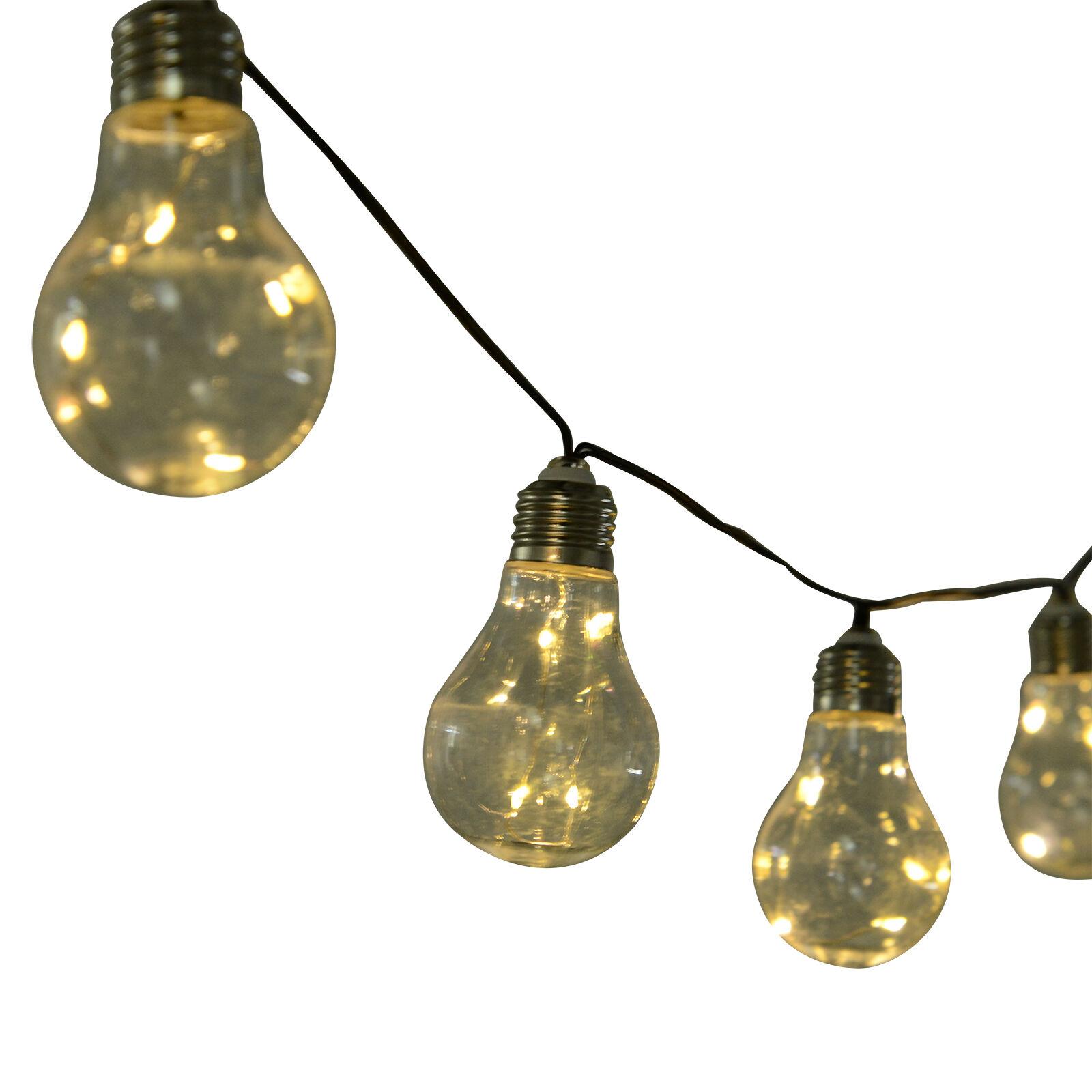 Outsunny Guirlandes LED solaires 20 ampoules 7,6 m