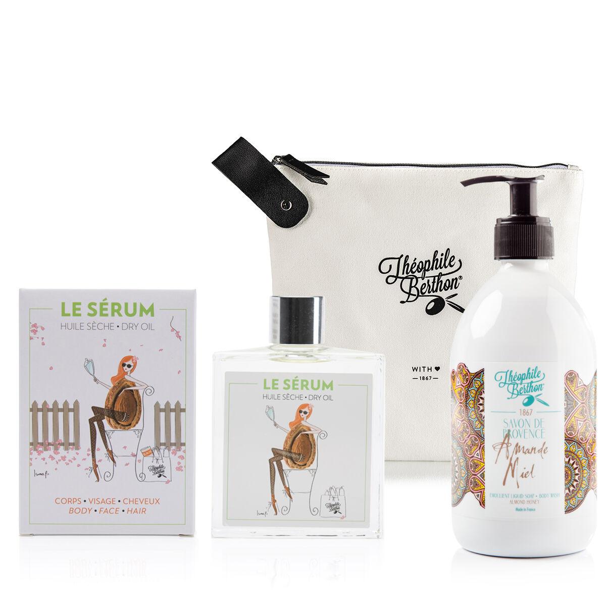 Théophile Berthon Trousse savon liquide olive et huile sche multifonctions