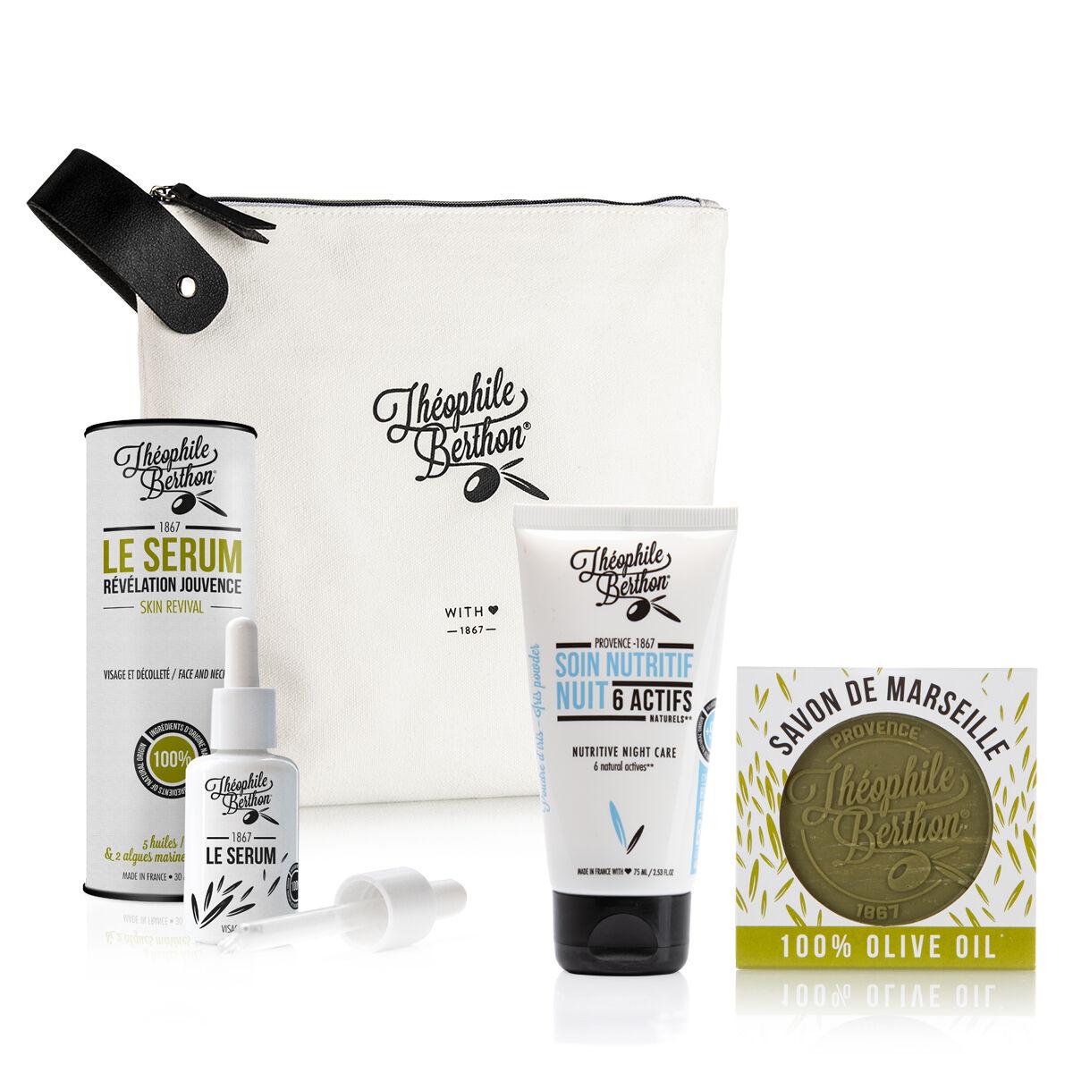 Théophile Berthon Trousse 2 soins visage et savon pur olive