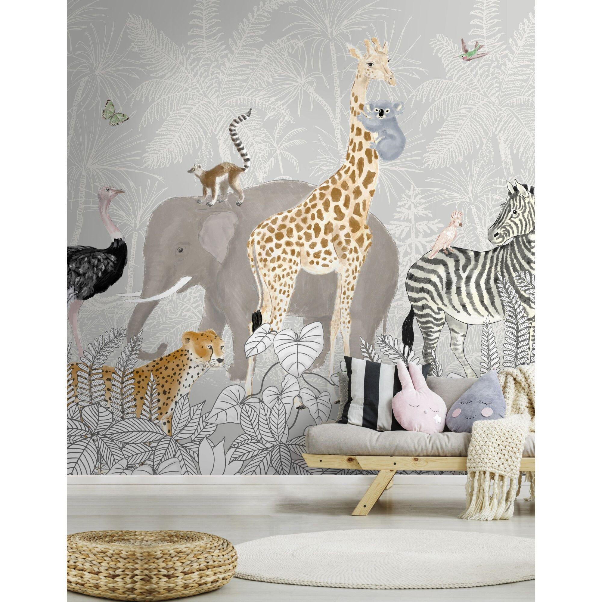 Superfresco Easy Papier peint panoramique animaux de la jungle 280x300cm