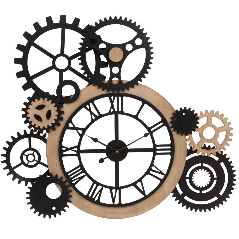 Maisons du Monde Horloge à rouages 79x68