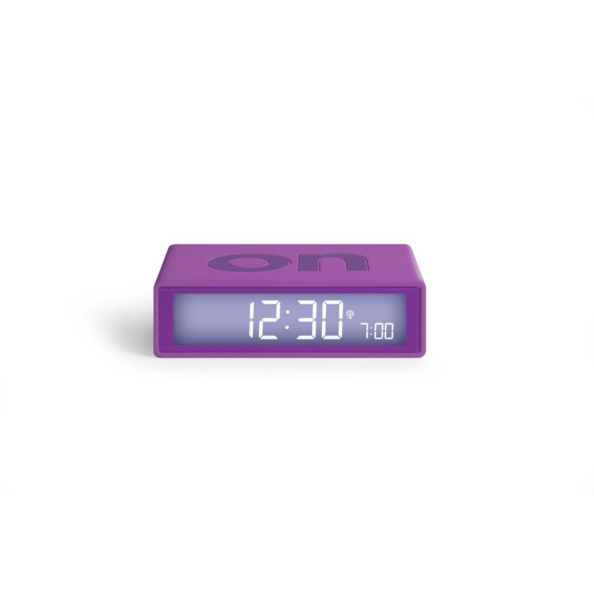 Lexon Réveil LCD réversible ON-OFF en ABS Violet