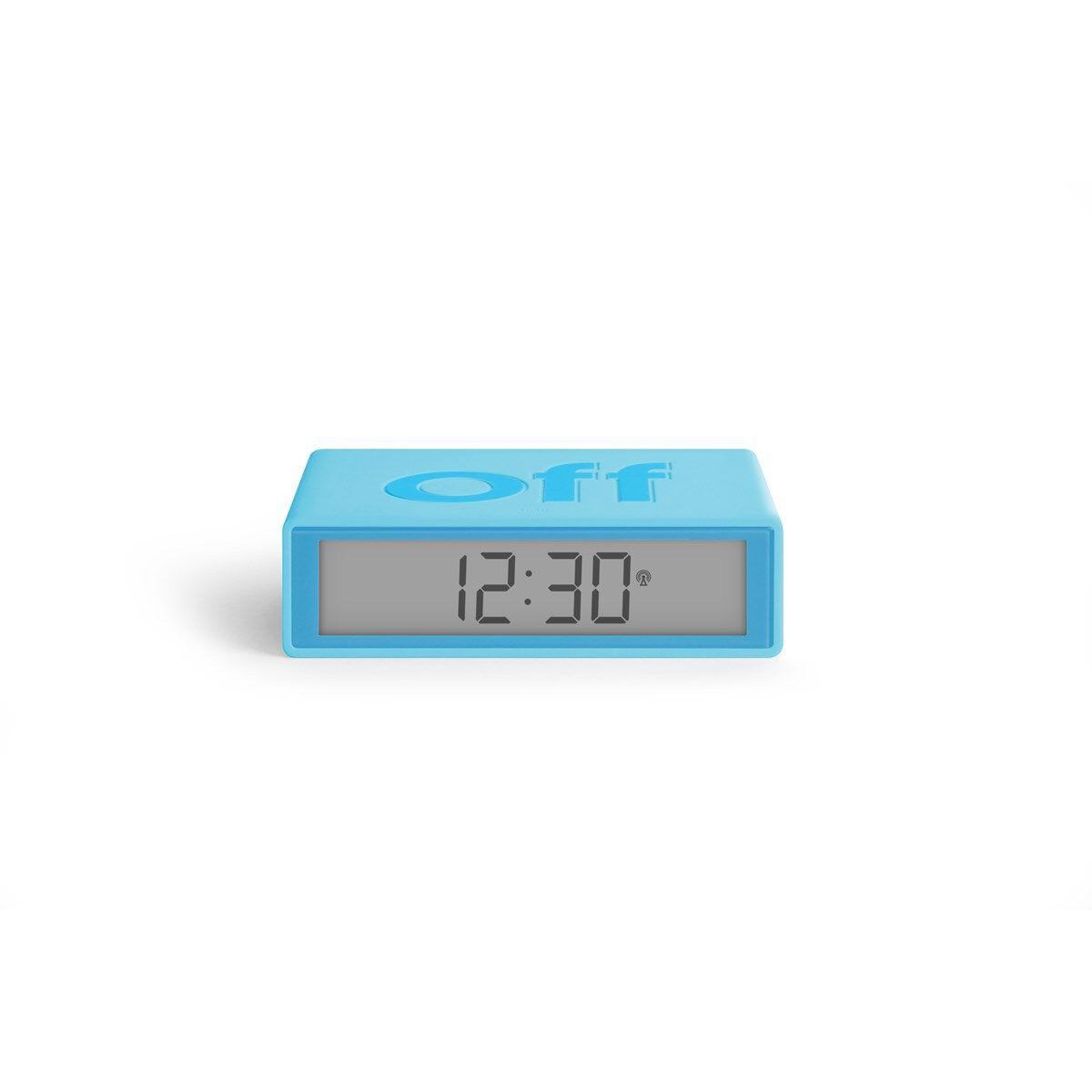 Lexon Réveil LCD réversible ON-OFF en ABS Bleu turquoise