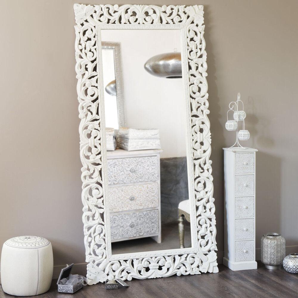 Maisons du Monde Miroir en manguier sculpté 90x180