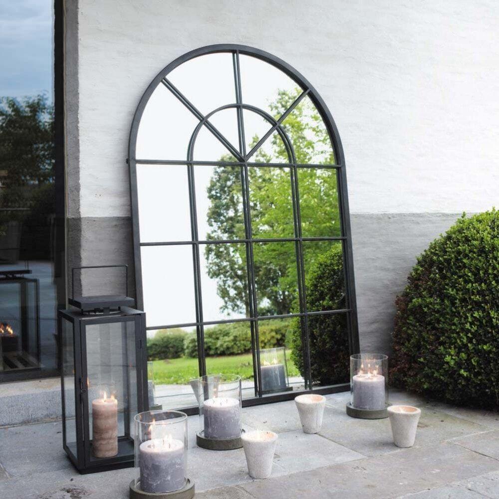 Maisons du Monde Miroir en métal noir 92x135