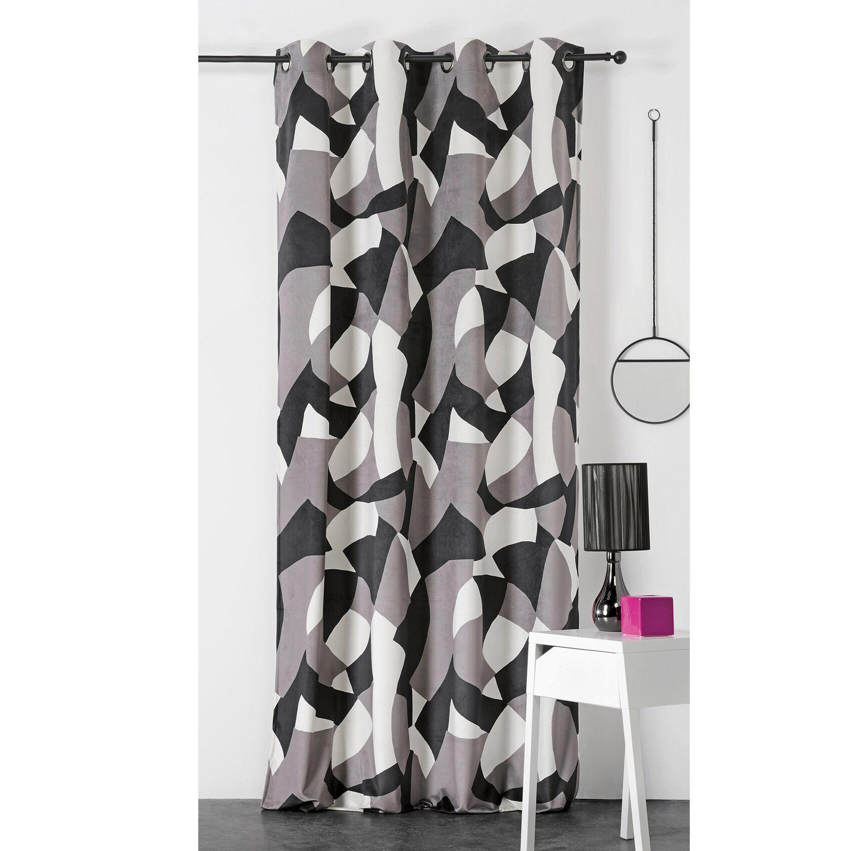 Linder Rideau d'ameublement camo polyester gris 240x145