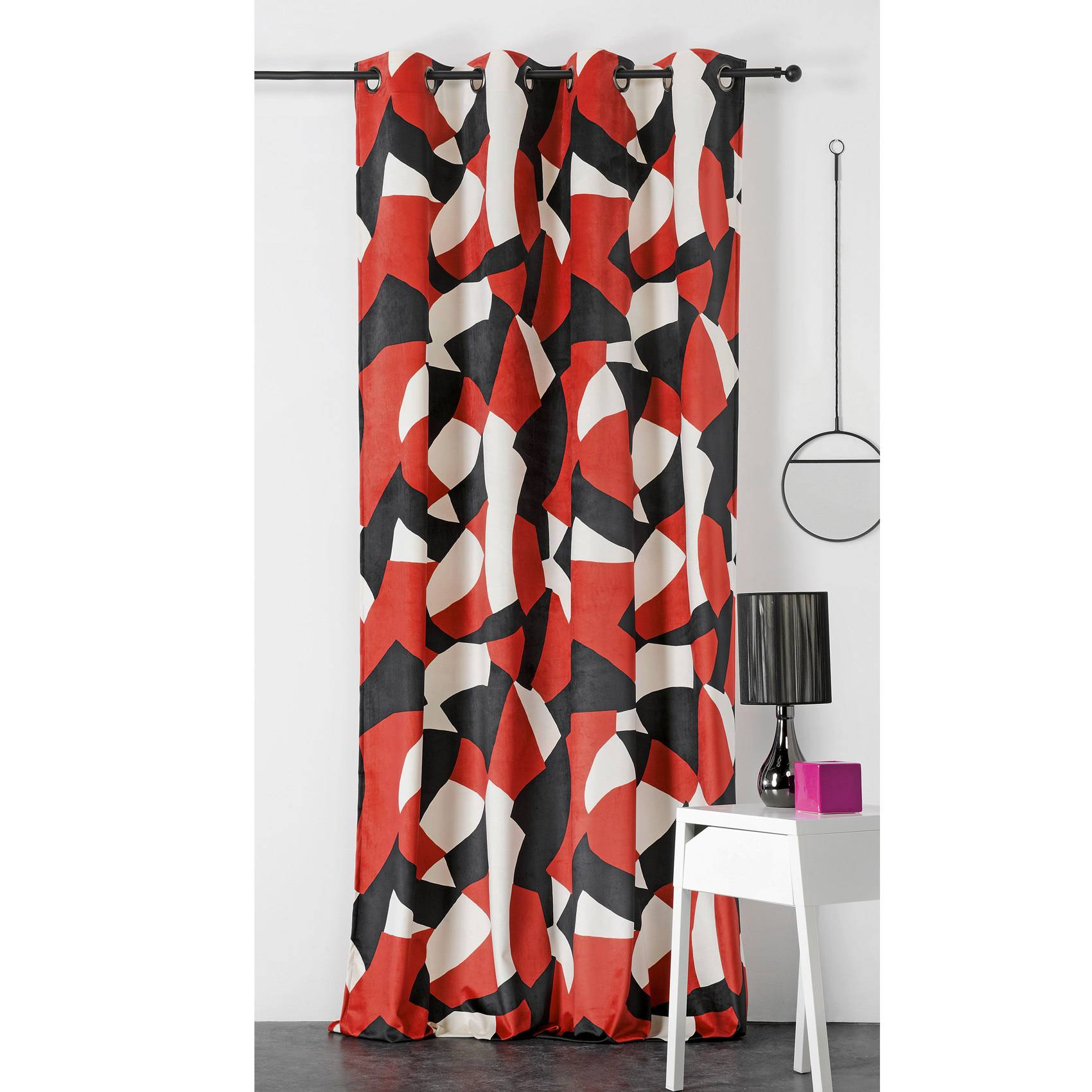 Linder Rideau d'ameublement camo polyester terracotta 240x145