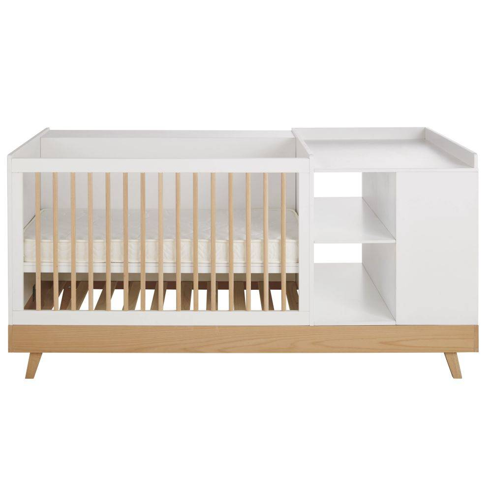 Maisons du Monde Lit bébé combiné coloris blanc L190