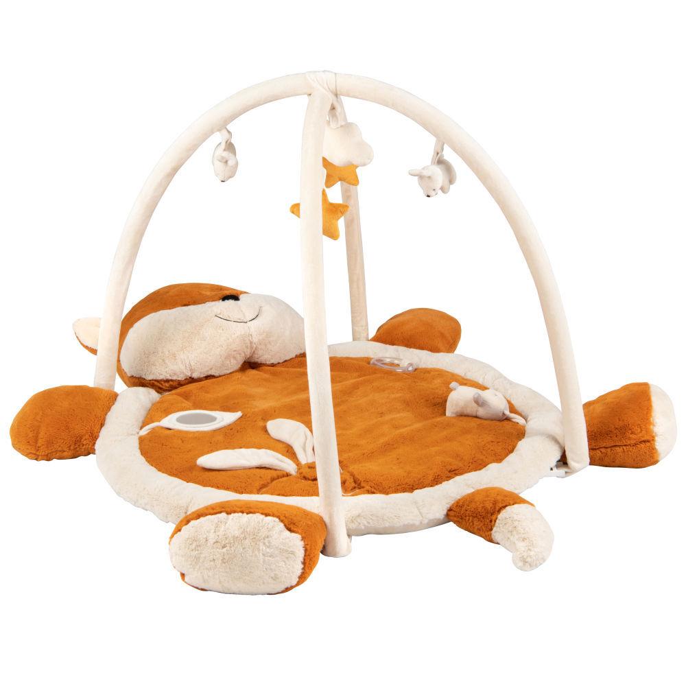 Maisons du Monde Tapis d'éveil bébé renard marron, écru et jaune moutarde