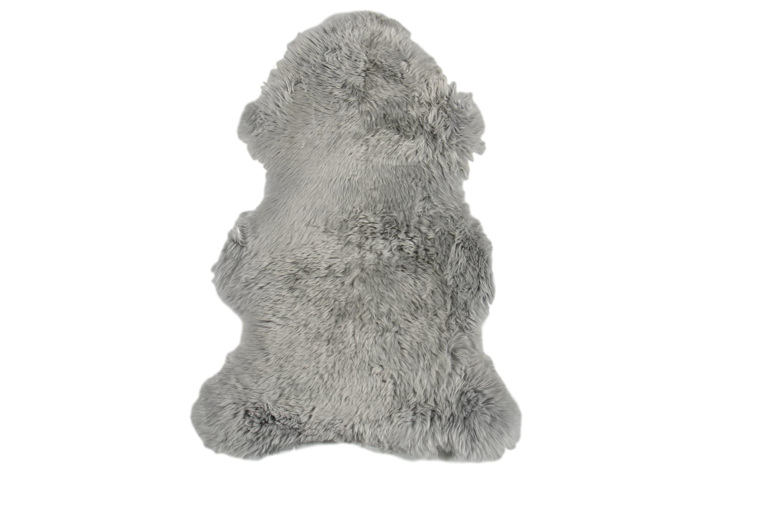 Esbeco Tapis en peau de mouton gris 70x100