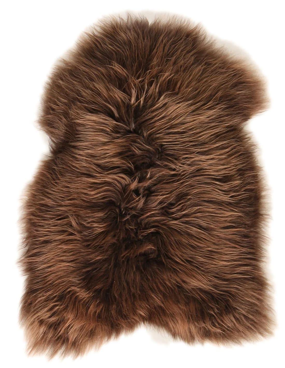 Esbeco Tapis en peau de mouton islandais châtaigne 90x60