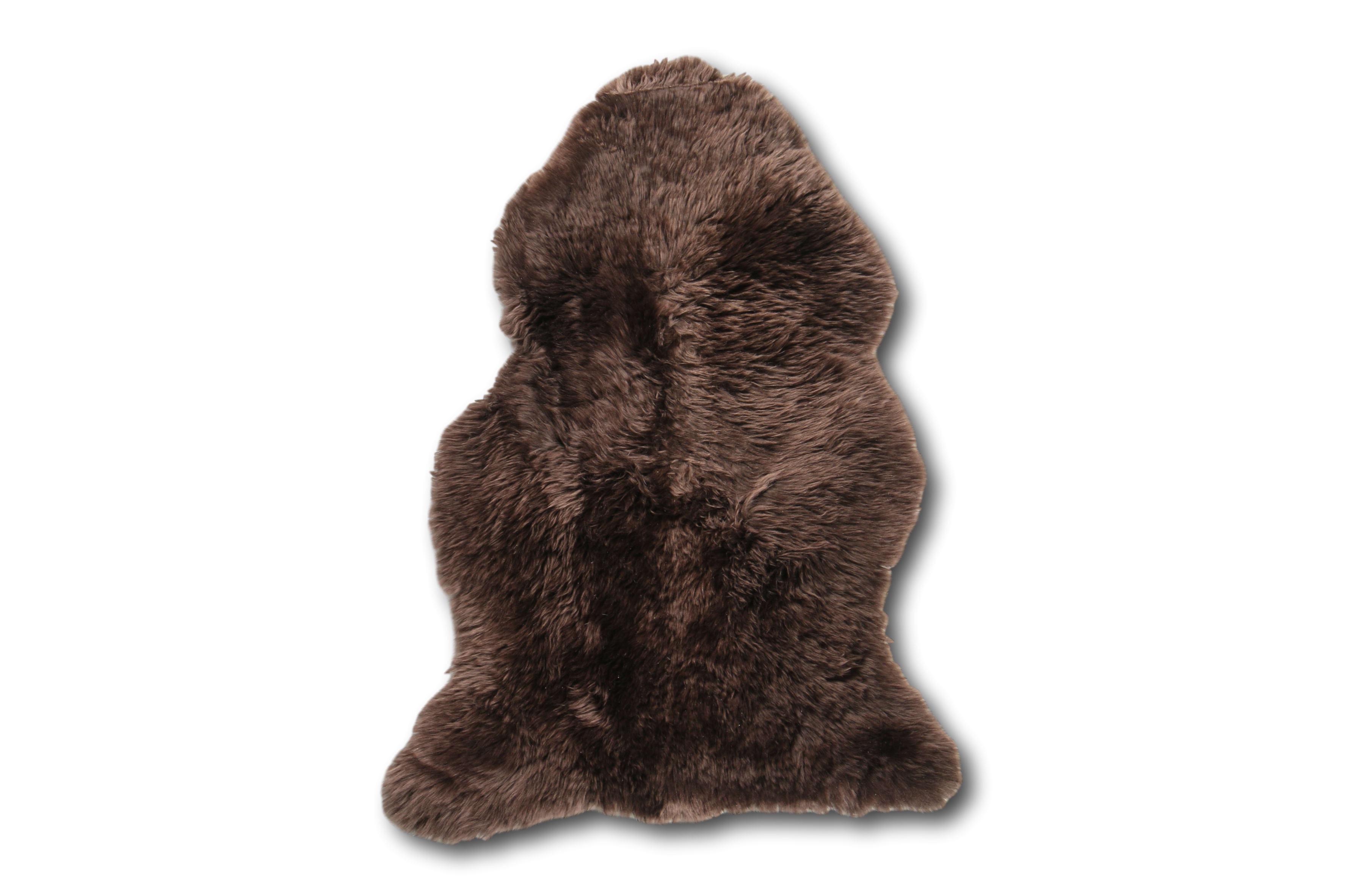 Esbeco Tapis en peau de mouton marron 70x100