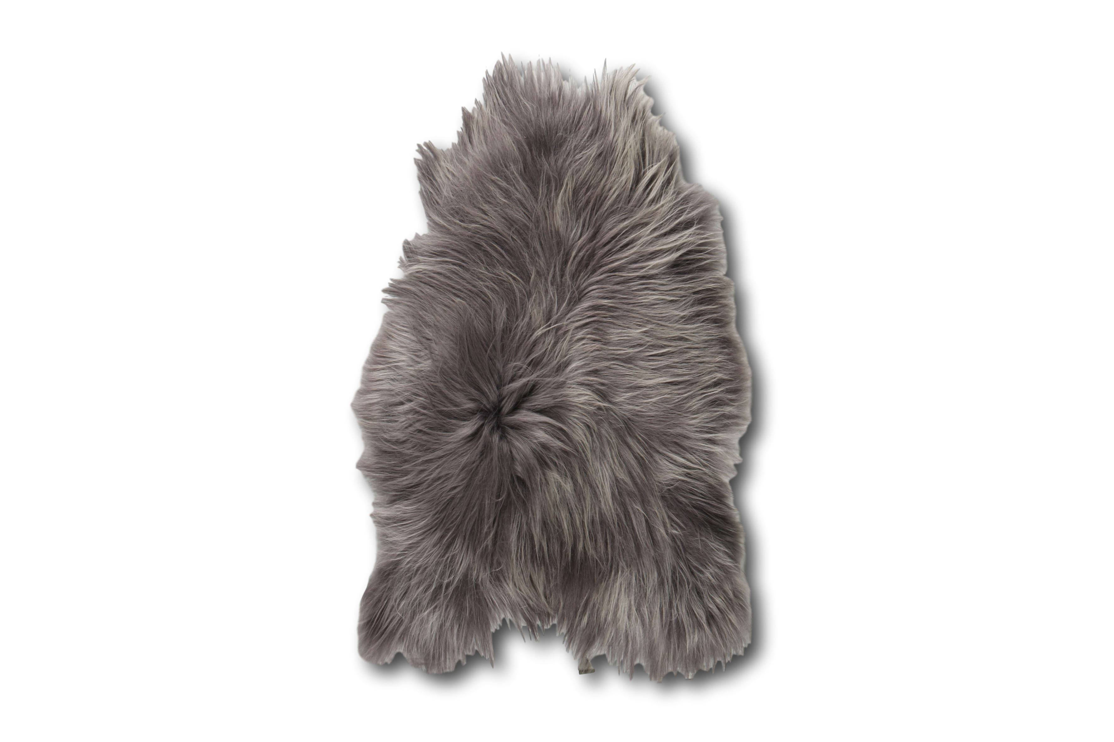 Esbeco Tapis en peau de mouton islandais acier 90x60