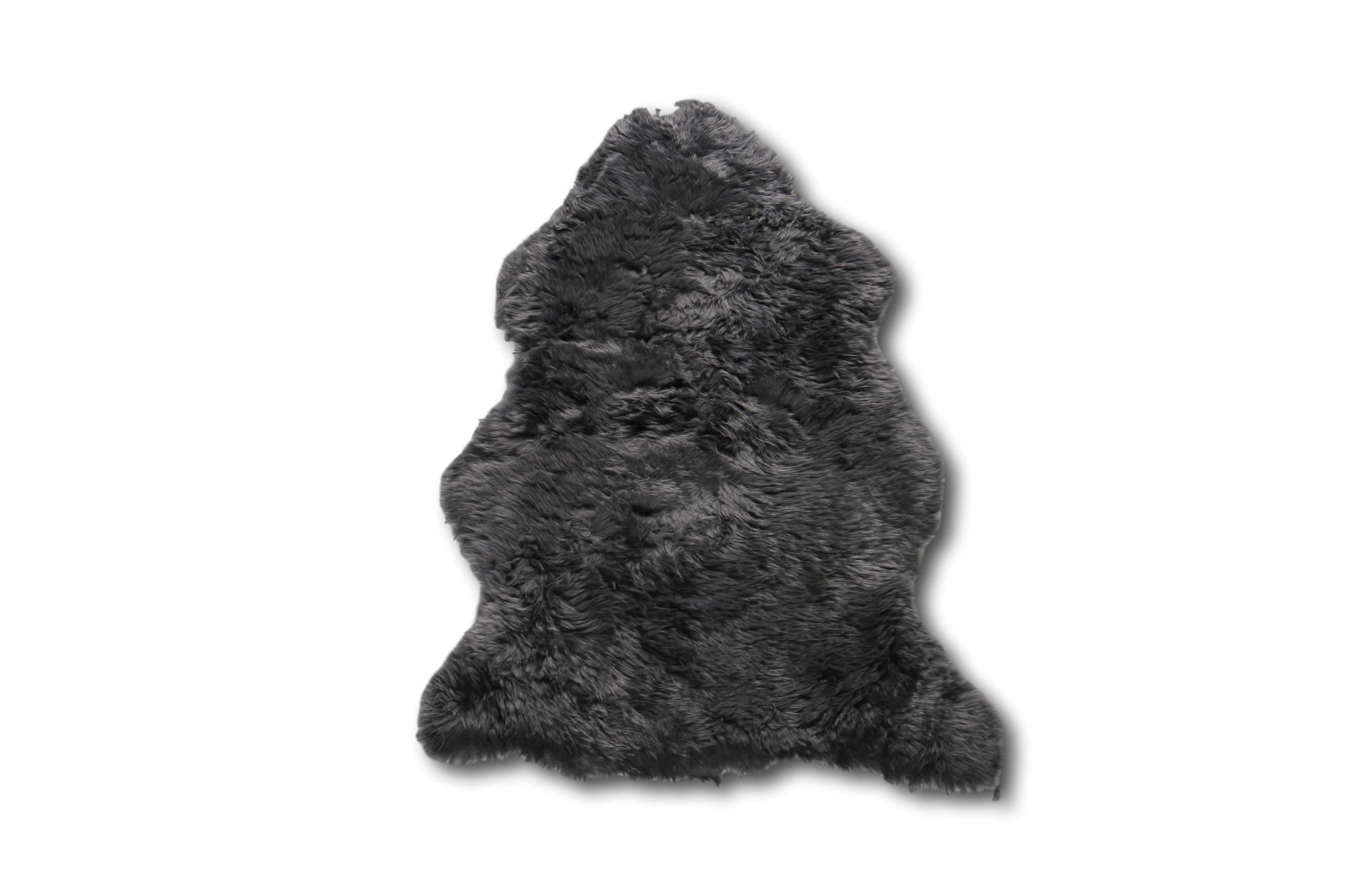 Esbeco Tapis en peau de mouton gris foncé 70x100