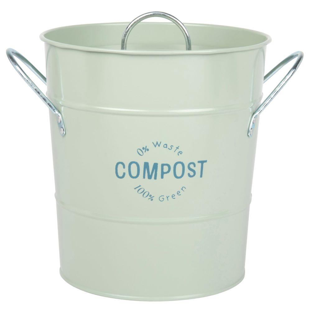 Maisons du Monde Compost en métal vert