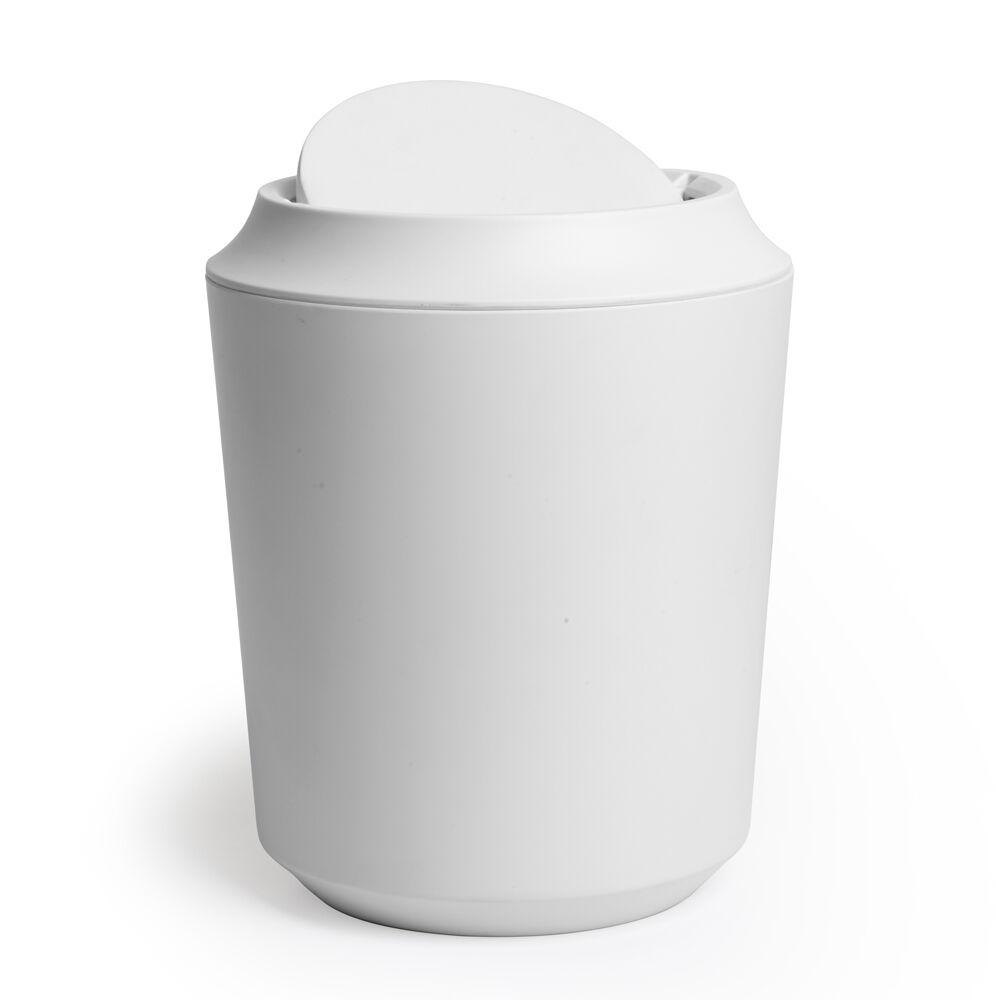 Umbra Poubelle de salle de bain avec couvercle, mélamine, blanc