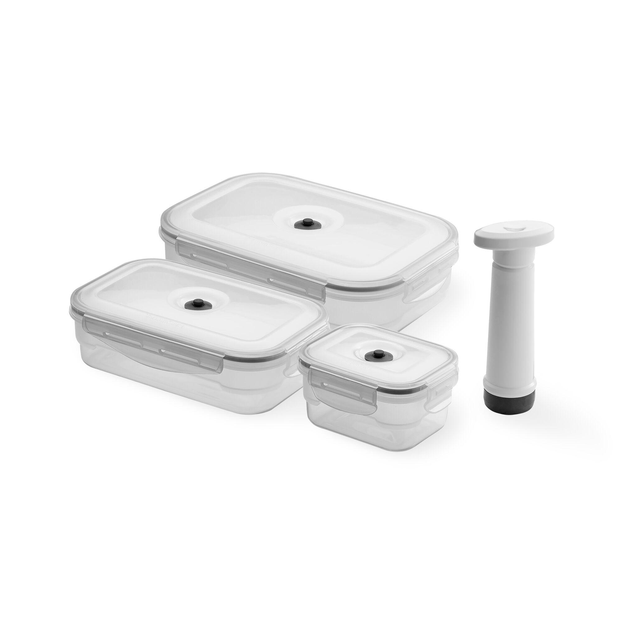 Compactor Lot de 3 boîtes alimentaires sous vide + pompe