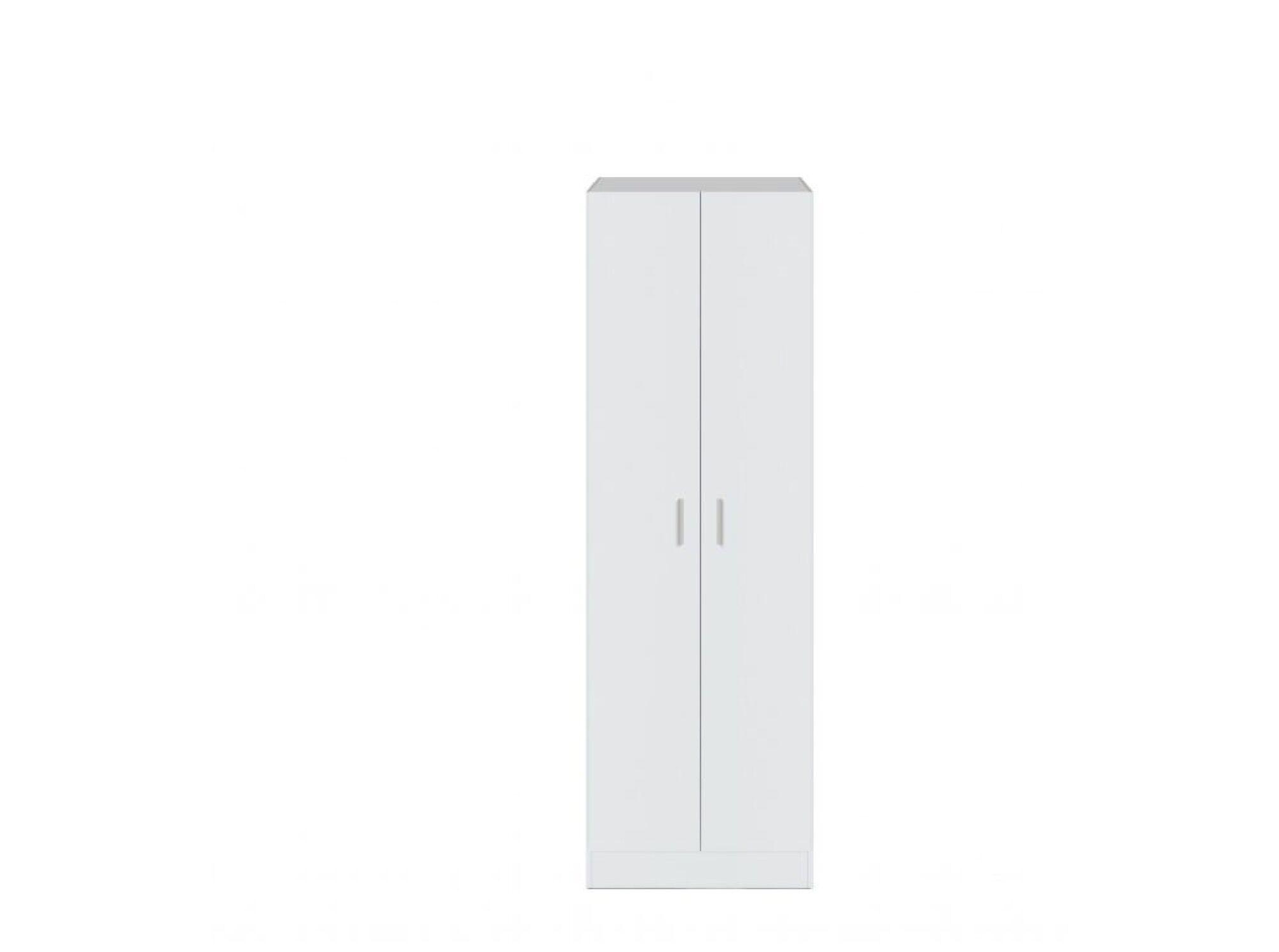 Usinestreet Armoire blanche 2 portes L58,5cm x H180cm
