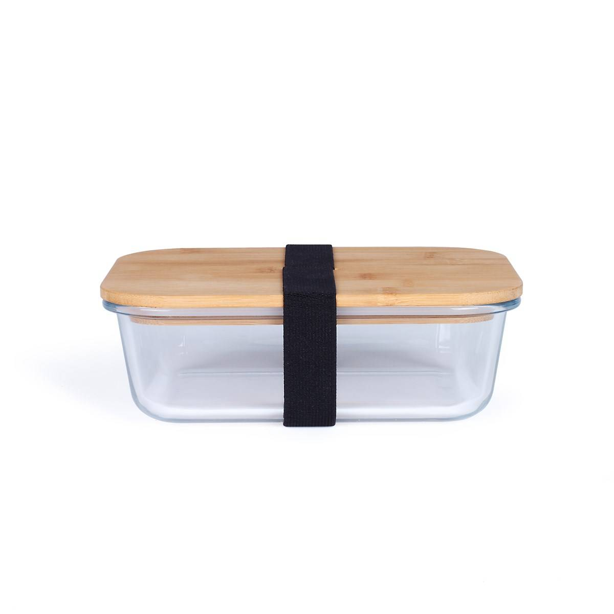 Livoo Lunch box en bambou transparent