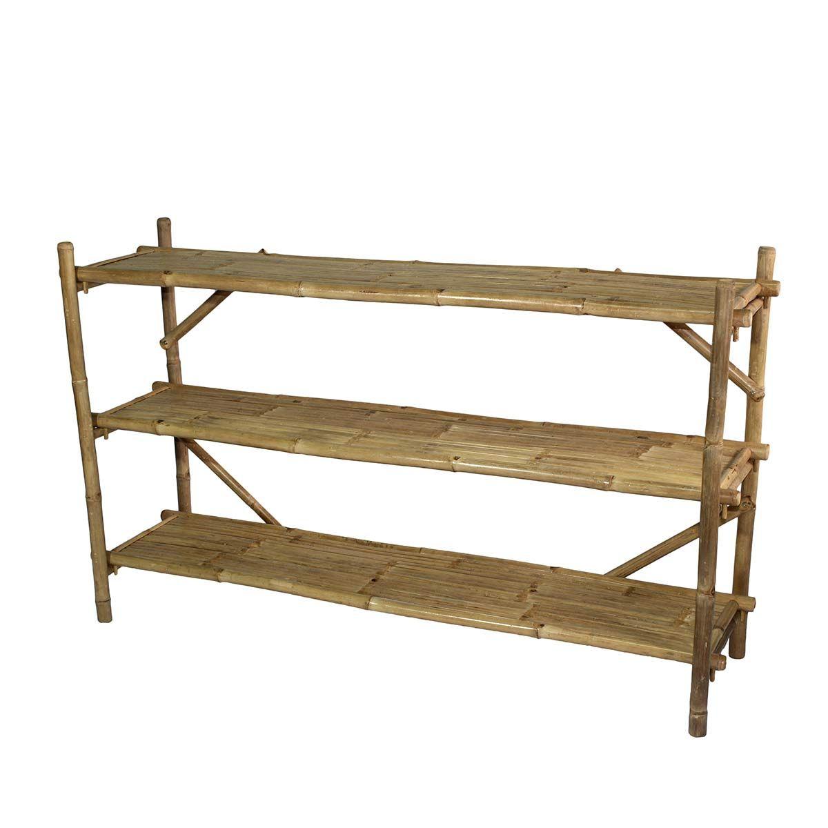 Casatera Bibliothque étagre bambou bois clair