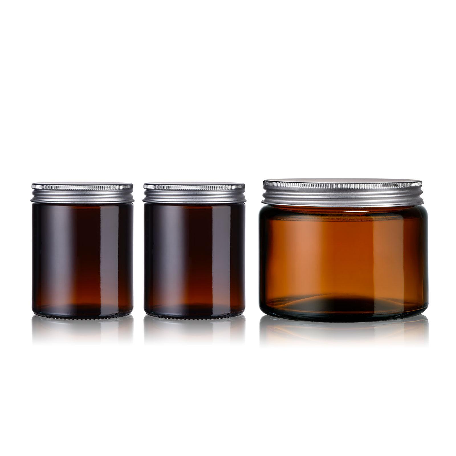 Little Pots Pot en verre ambré avec couvercle - Lot de 3