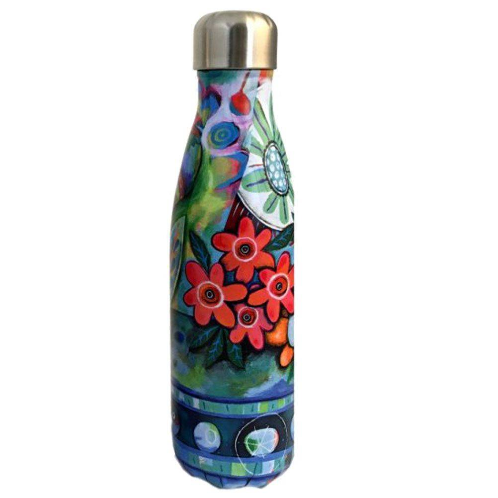 Enesco Bouteille isotherme en inox fleurs 500ml