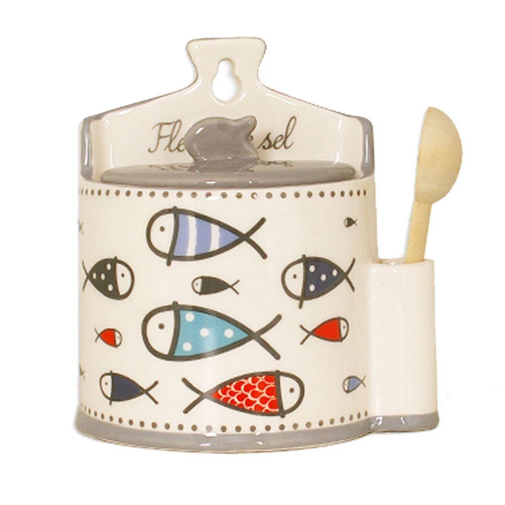 Faye Boite à sel en céramique avec cuillère