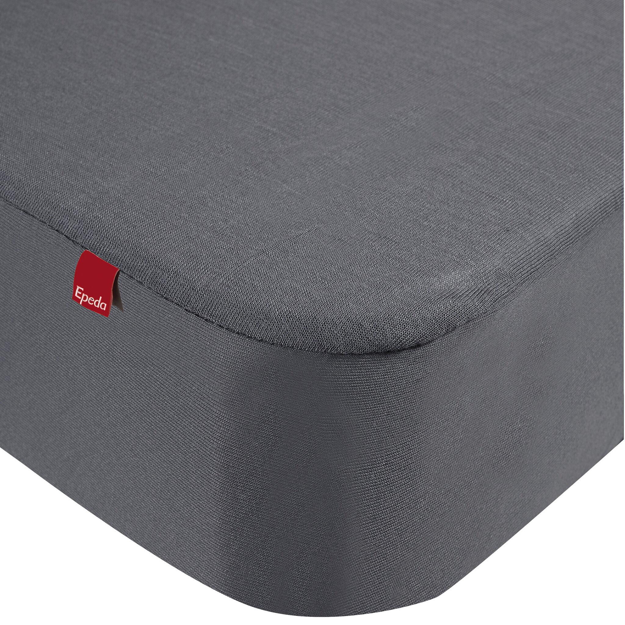 Epeda Drap housse protège matelas imperméable 2 en 1 gris 160x190/200