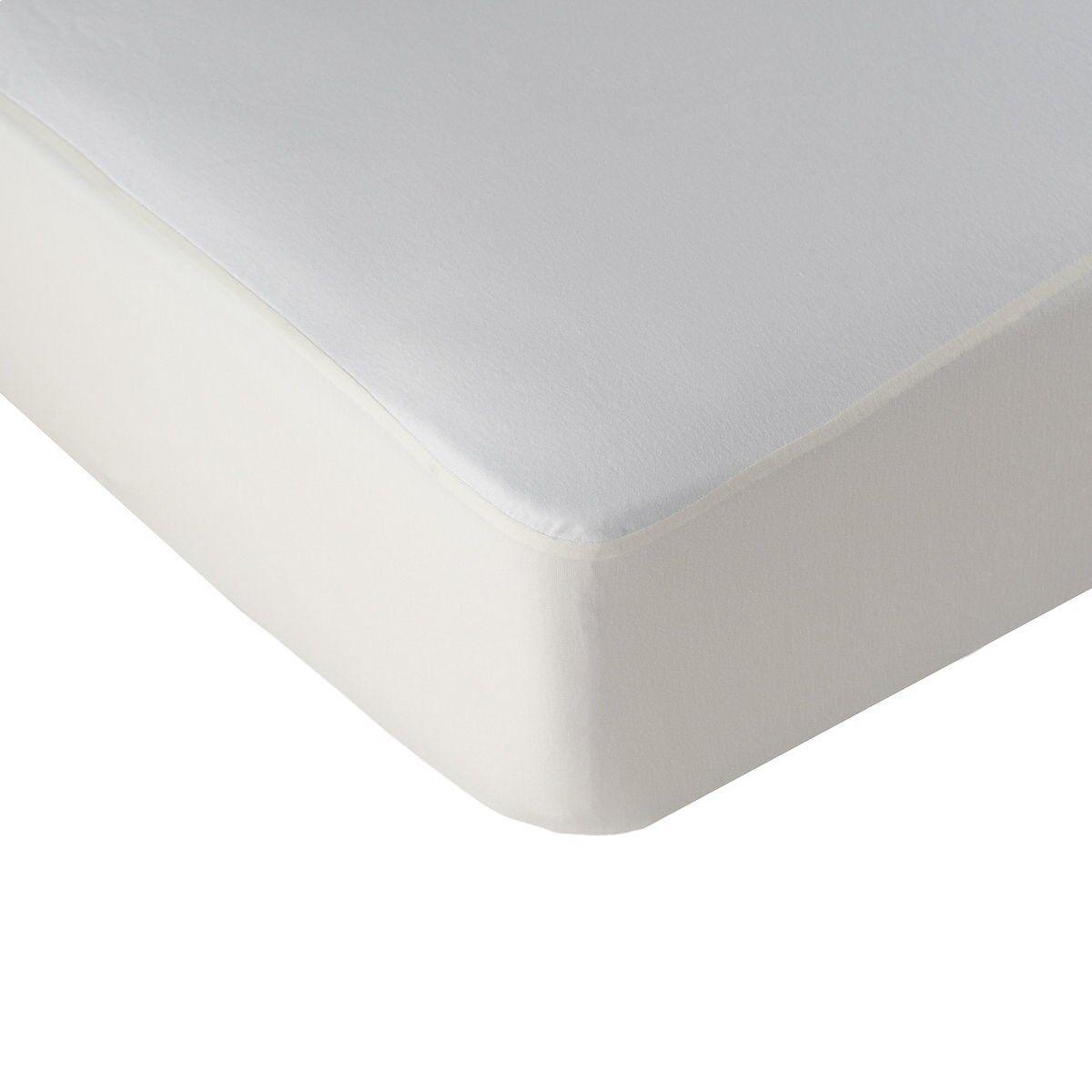 Linandelle Alèse protège matelas respirante en coton blanc 80x190 cm