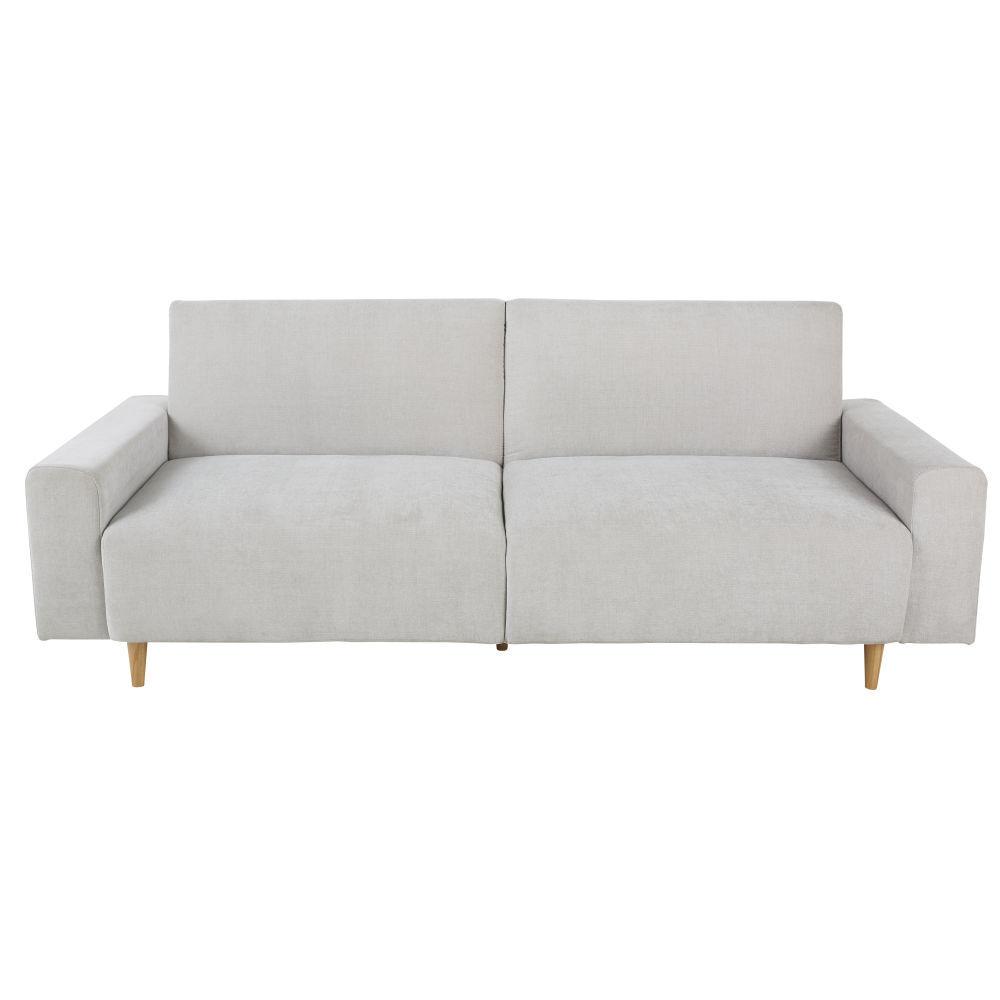 Maisons du Monde Canapé-lit 3 places gris clair Russel