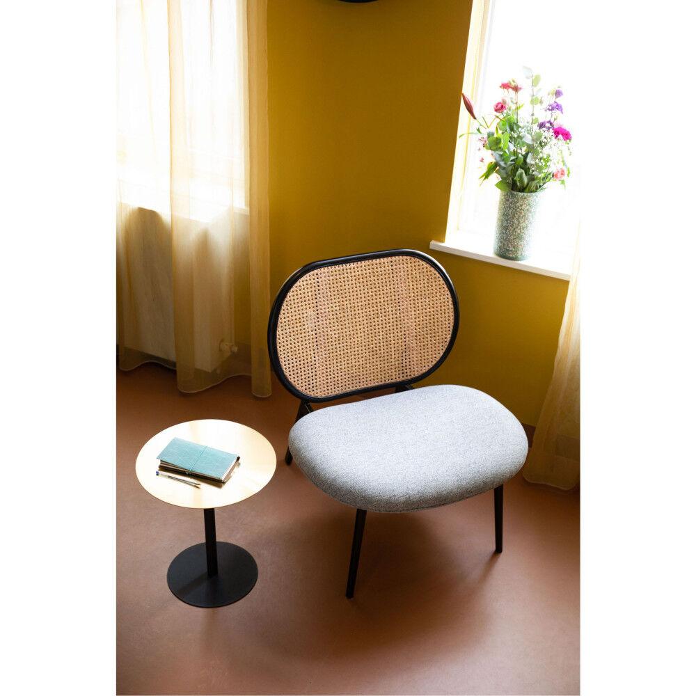 Zuiver Fauteuil lounge en cannage gris