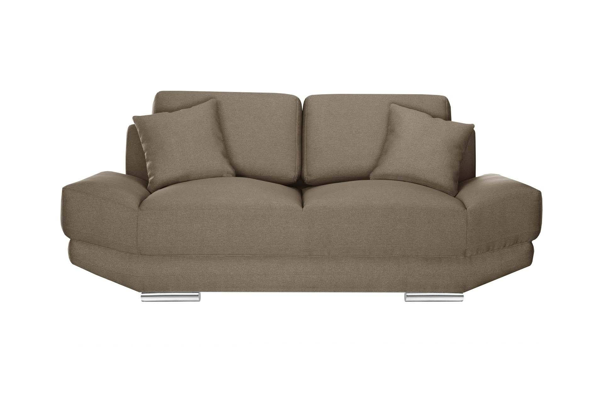 L'Officiel Interiors Canapé 2 places toucher lin noisette