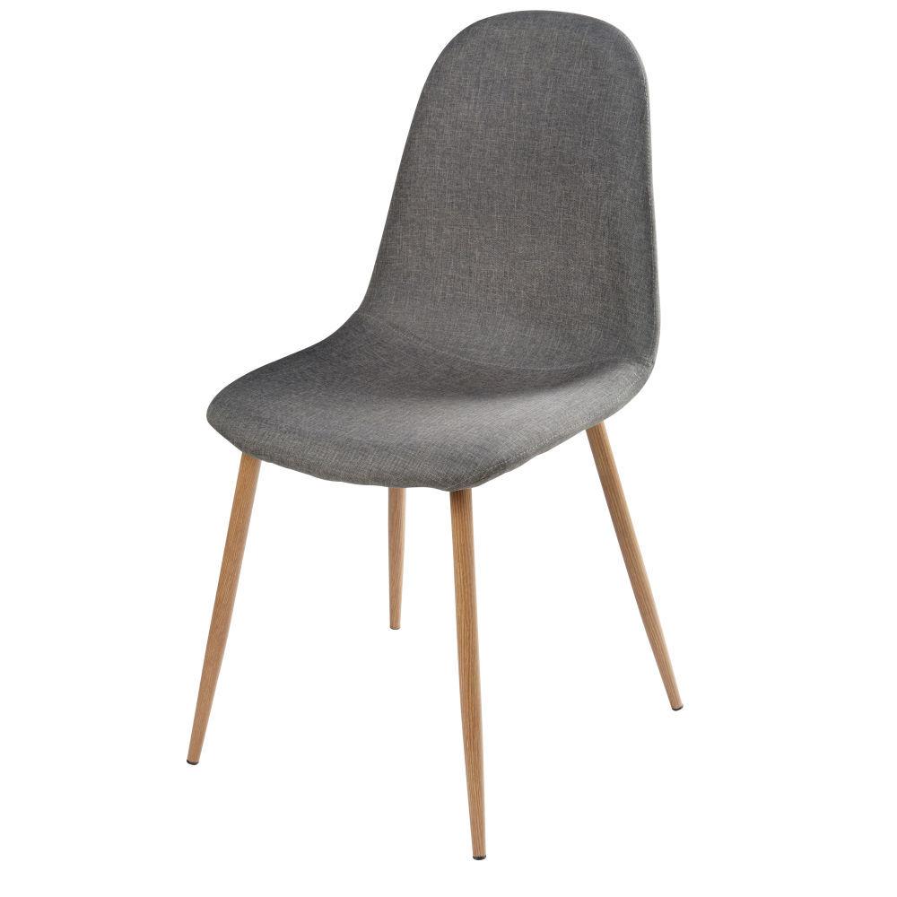 Maisons du Monde Chaise style scandinave grise
