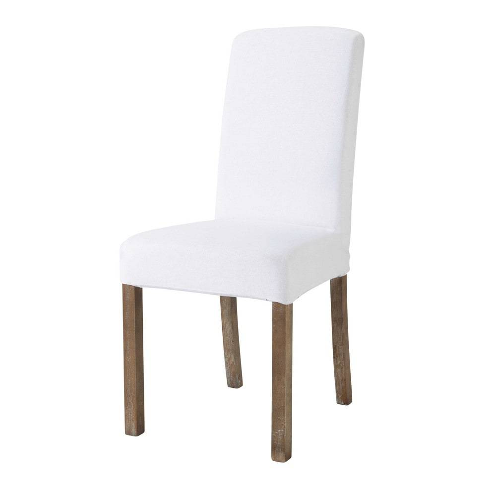 Maisons du Monde Housse de chaise en lin lavé blanche