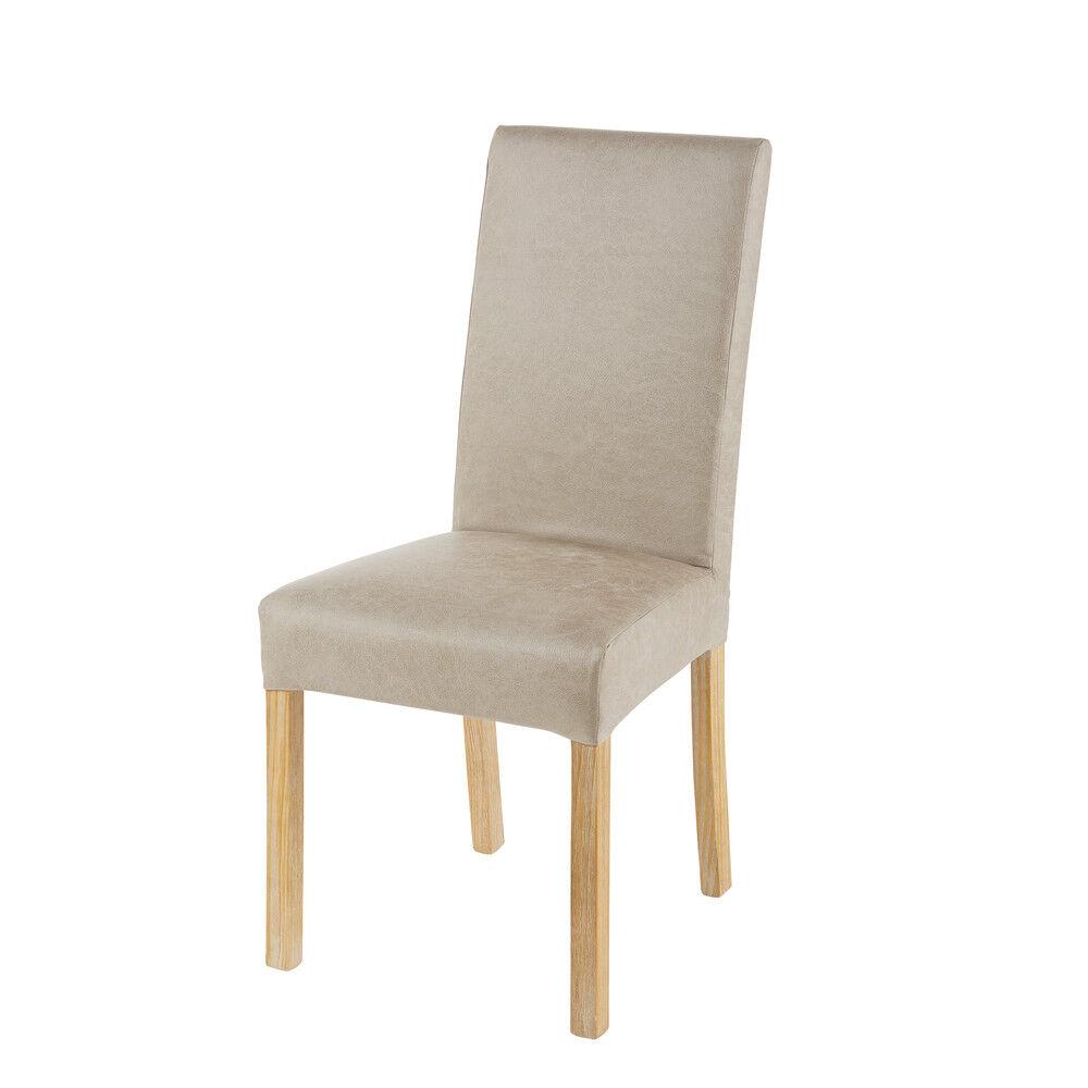 Maisons du Monde Housse de chaise en microsuède beige 41x70
