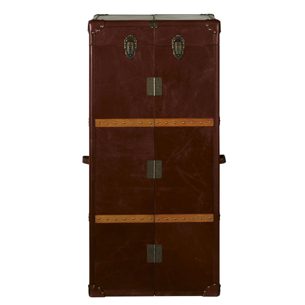 Maisons du Monde Meuble de bar avec tiroirs en cuir