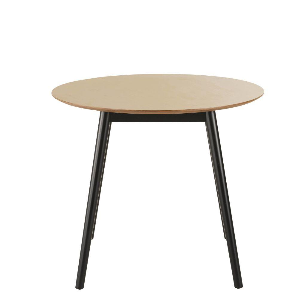 Maisons du Monde Table à manger ronde bicolore 4 personnes D90