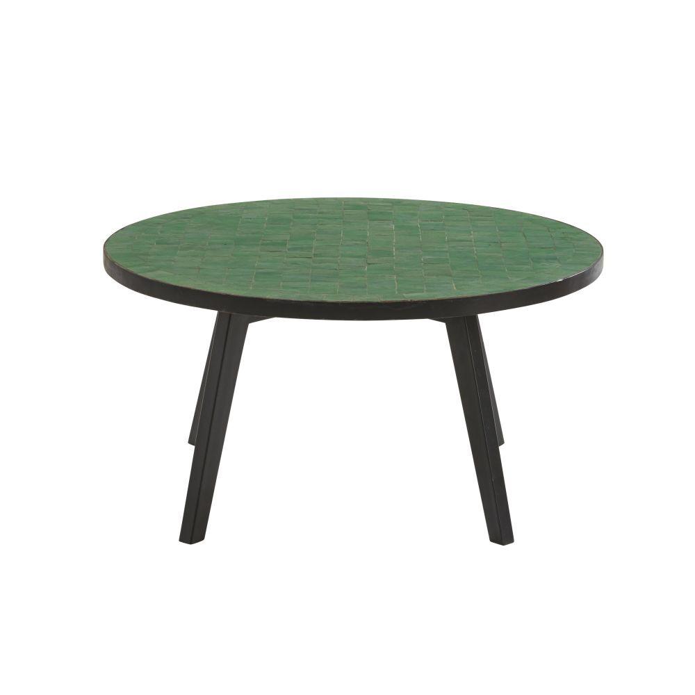 Maisons du Monde Table basse de jardin en mosaque verte