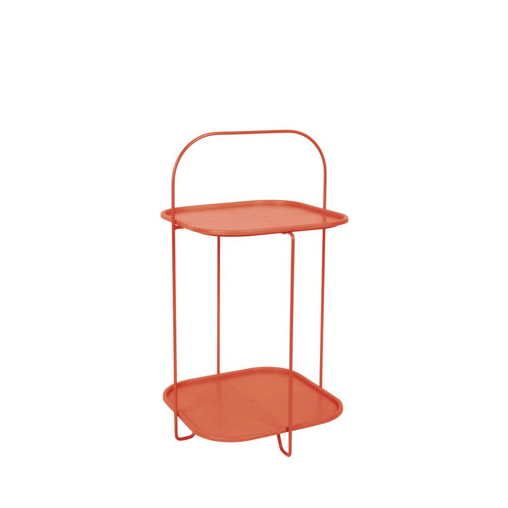 Leitmotiv Table d'appoint en métal marron argile