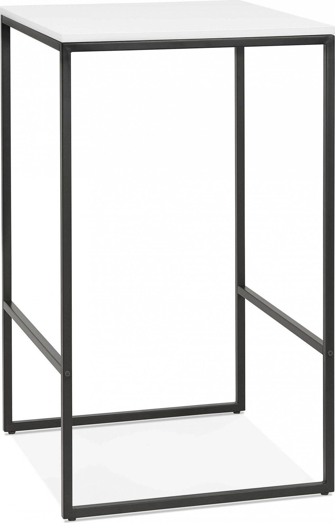 Kokoon Design Mange debout table haute couleur noir et blanc 2 places l60cm