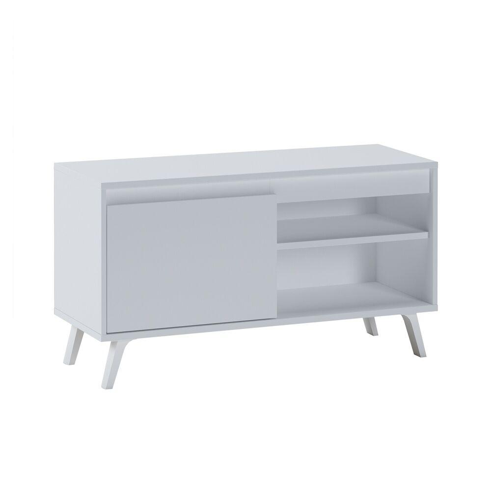 Selsey Meuble tv scandinave 100 cm blanc