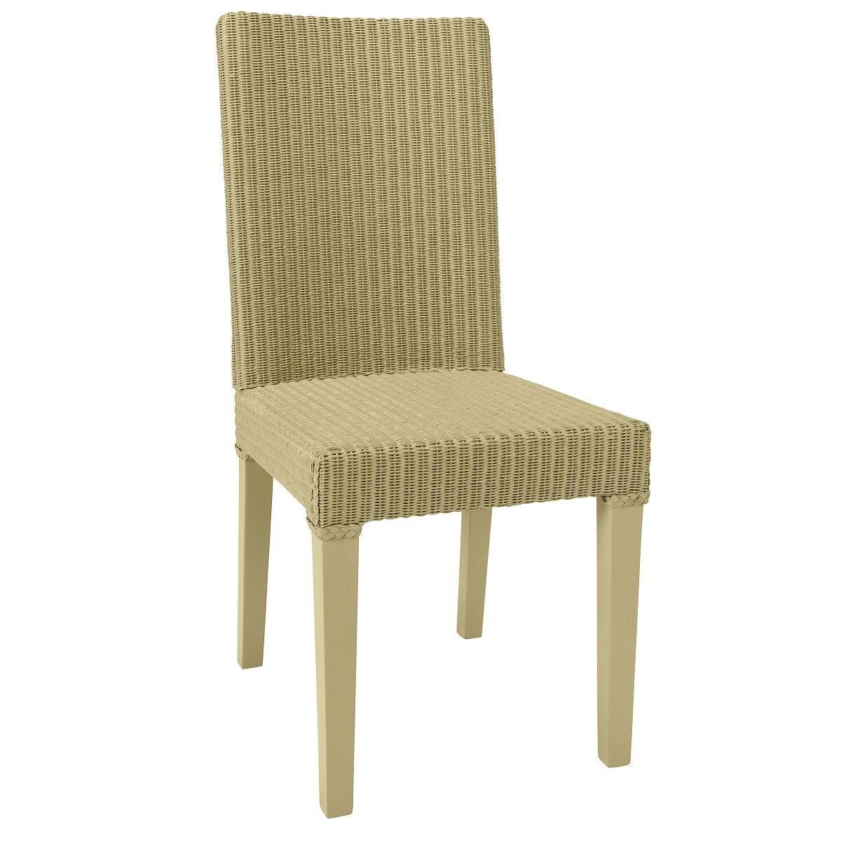 Kok Maison Chaise en Lloyd Loom jaune paille