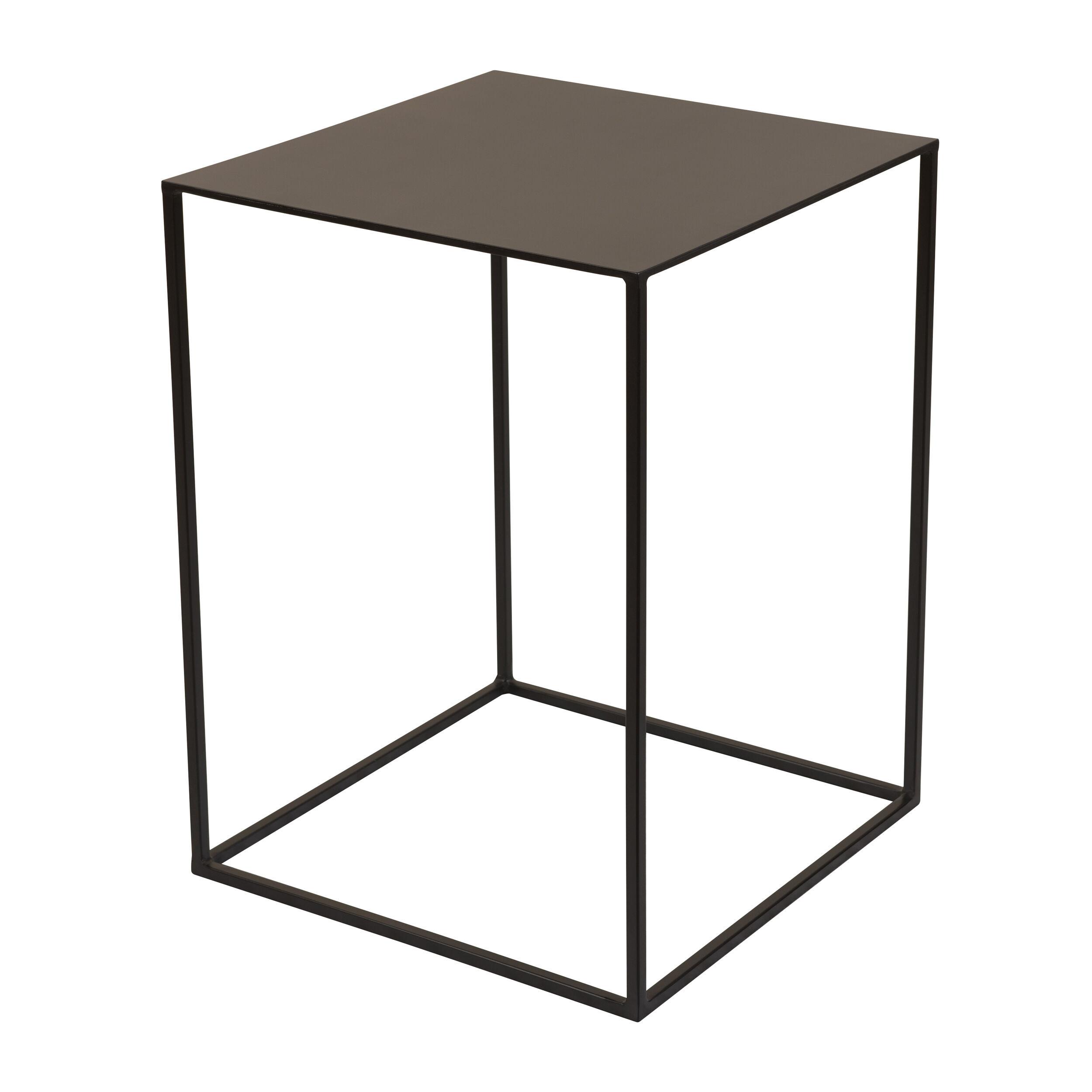 Rendez vous déco Table d'appoint carrée en métal noir