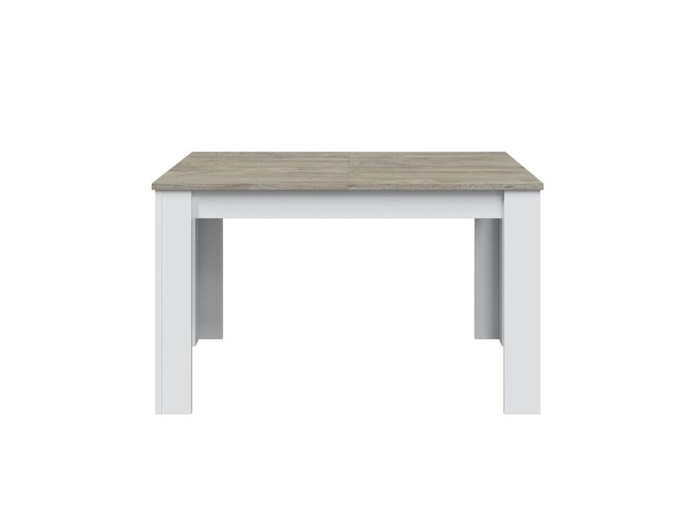 Usinestreet Table  manger extensible blanc/bois blanchi L140/190cm