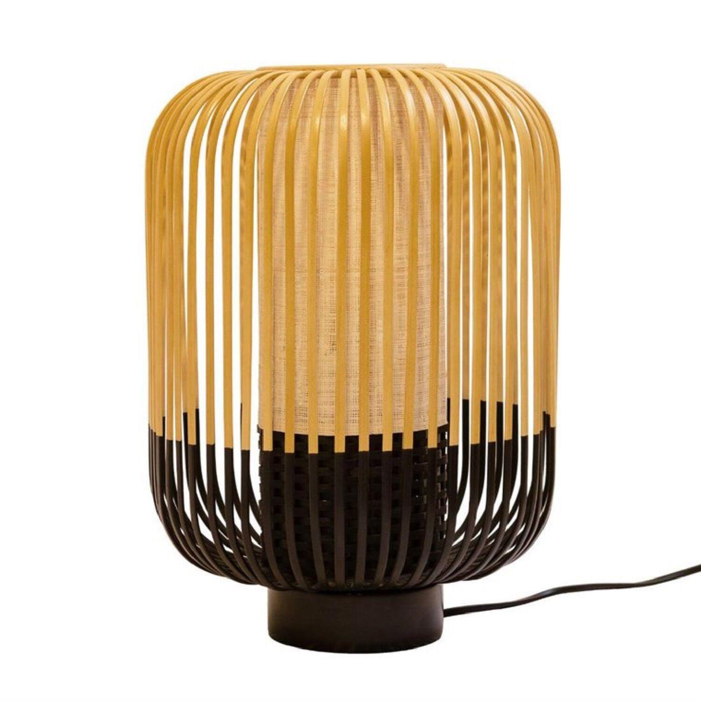 Forestier Lampe  poser bambou/noir H39cm