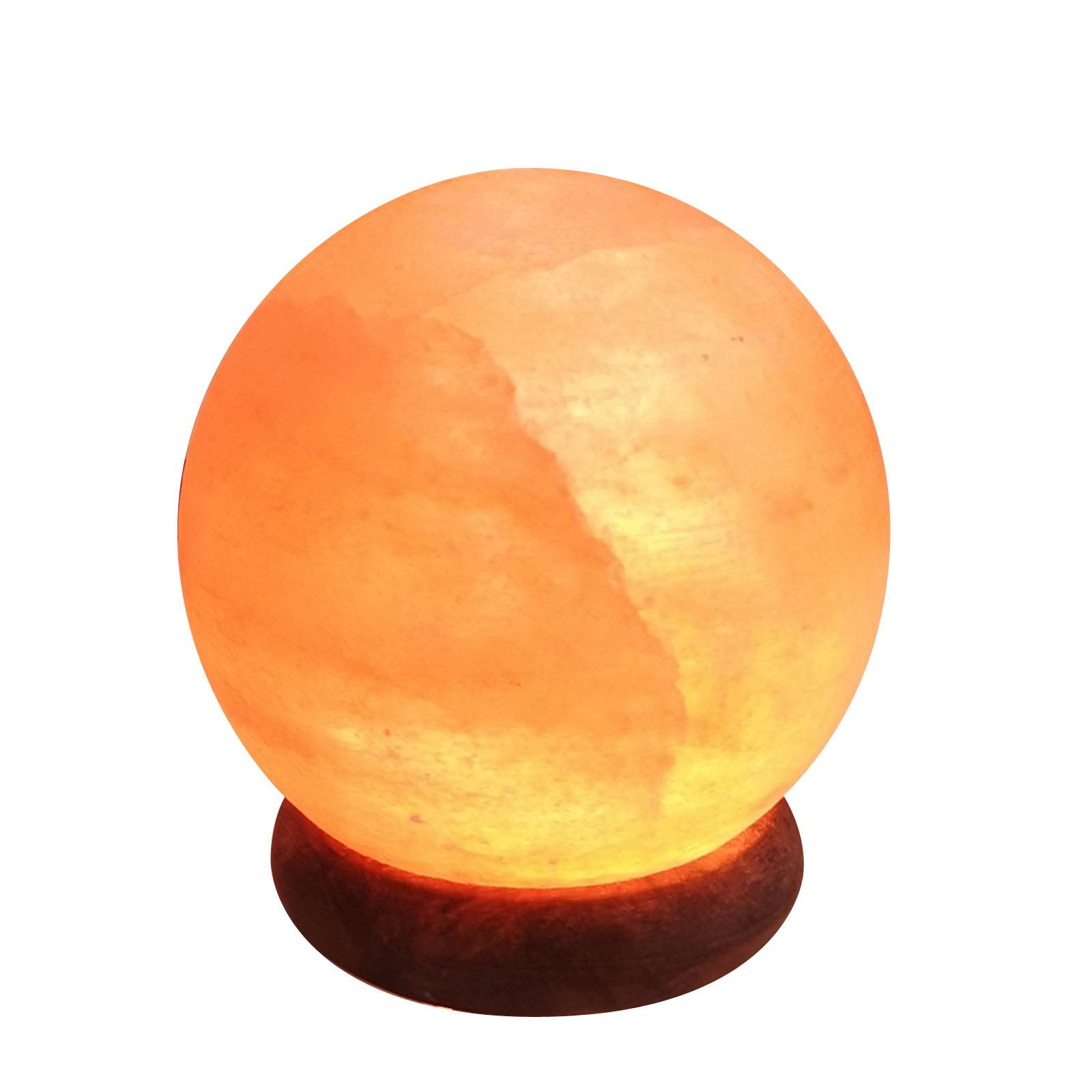 Zen'Arôme Lampe USB en cristal de sel d'Himalaya sphère