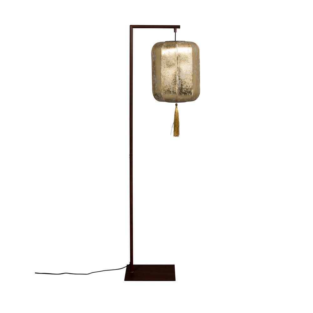 Dutchbone Lampadaire style lanterne japonaise or